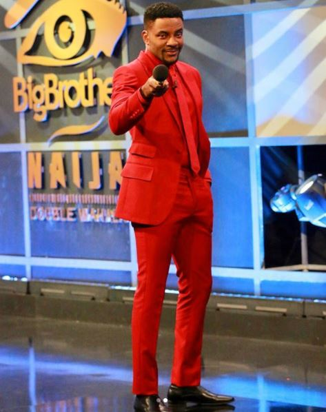 "ebuka obi uchendu finally reacts as nigerians mock him for wearing this red suit photos - ""Abeg You, Jega And INEC Chairman, Yakubu Mahmood, Are The Same"" – See Why A User Told BB Naija Anchor, Obi Uchendu, This"