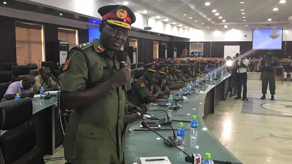 chief of amry staff buratai warns army against excessive use of social medias - We will fish you out – Buratai fires warning