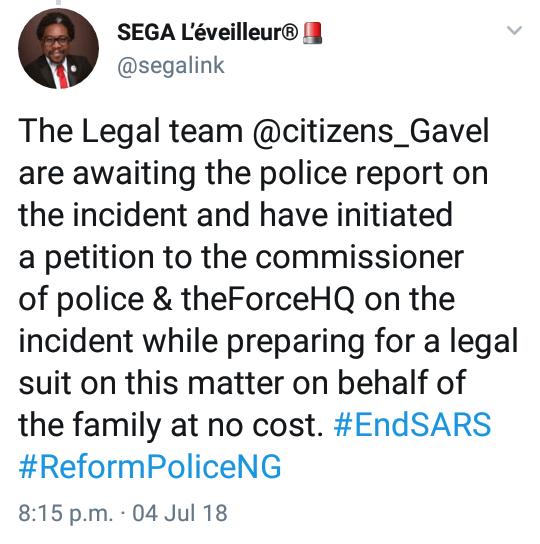SARS officer allegedly kills female corps member