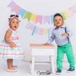 Paul and Anita Okoye celebrate their twins' birthday