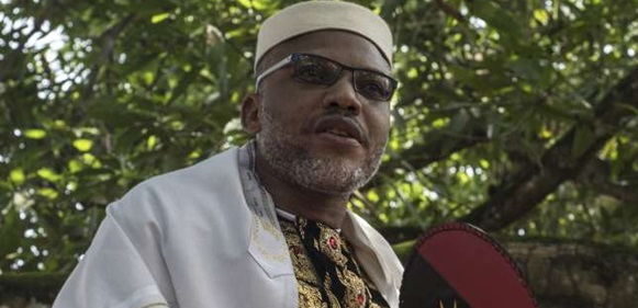 Nnamdi Kanu tile 1 - I am not a Nigerian citizen,Your bail revocation will never ever work – Kanu to FG