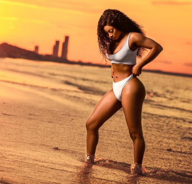 toke makinwa shows off her curves in hot new bikini photos as she turns 34 - Popular OAP, Toke Makinwa has a message for those who say she 'sleeps around'