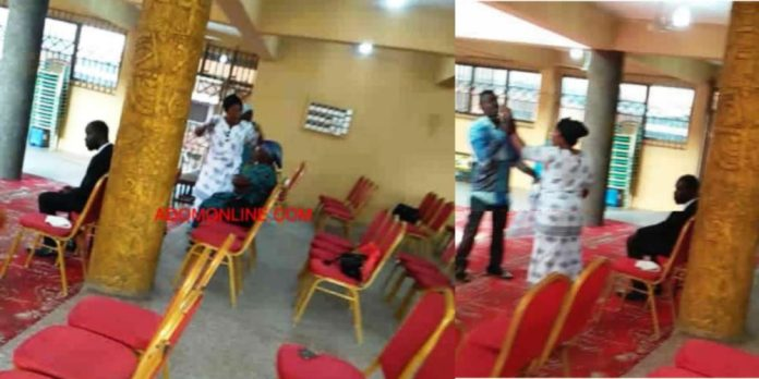 Lady allegedly beaten by church officials for not dressing properly