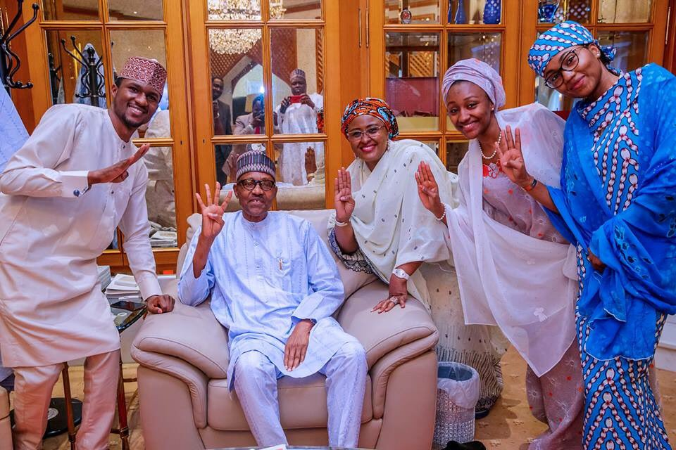 0 IMG 20190227 192345 - See First photo of Buhari's family after winning reelection