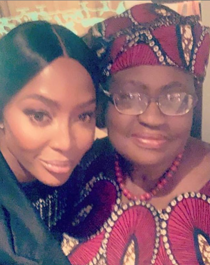 1 32 - Naomi Campbell showers praises on Ngozi Okonjo-Iweala as she meets her for the first time ever