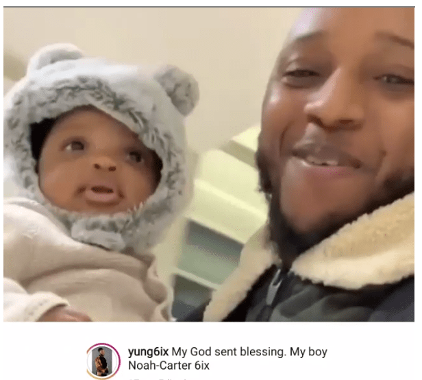 1 44 - I am now a father – Yungsix reveals, shares video of his new son