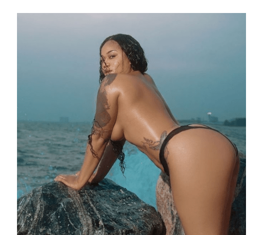 1 74 - You won't believe what Toyin Lawani was pictured in at the beach