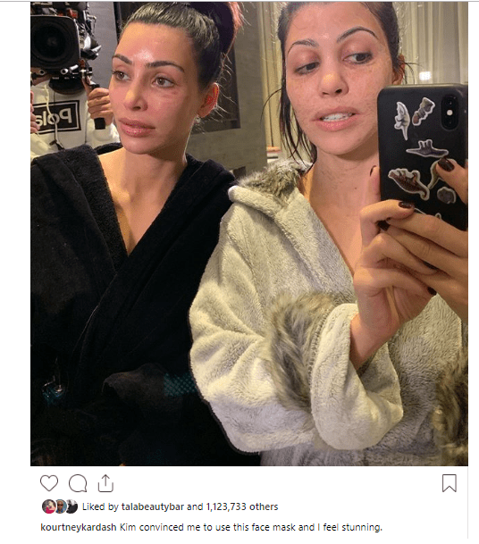 1 81 - Unbelievable! The internet is having a meltdown because of this makeup-free photo of Kim and Kourtney Kardashian