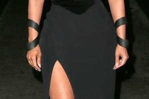 See the outrageously revealing dress Kim Kardashian was spotted in