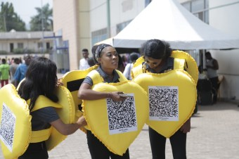 Nkem Owoh, MTN, Samsung, celebrate Valentine's Day with a difference at Enugu mall in #MTNLoveBox campaign