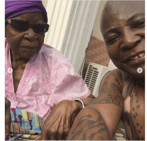 Screen Shot 2019 02 22 at 2.00.53 PM - Charly Boy shares beautiful new photos of himself with his 101-year-old mum