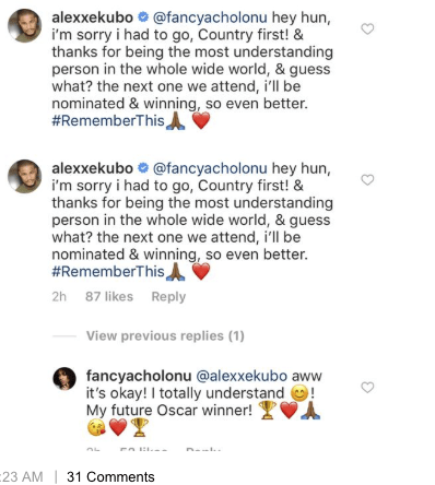 Screen Shot 2019 02 26 at 2.38.47 PM - He chose Nigeria over attending the Oscars – Alex Ekubo's girlfriend reveals