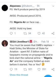 Screenshot 20190220 1844372 - 'WHERE IS NIGERIA AIR?'- NIGERIANS REACT
