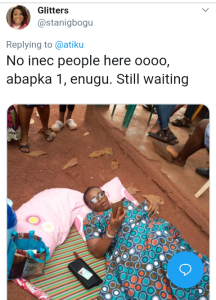 Screenshot 20190223 1336222 - #Nigeria Decides: Woman Takes Mat and People to Polling Unit