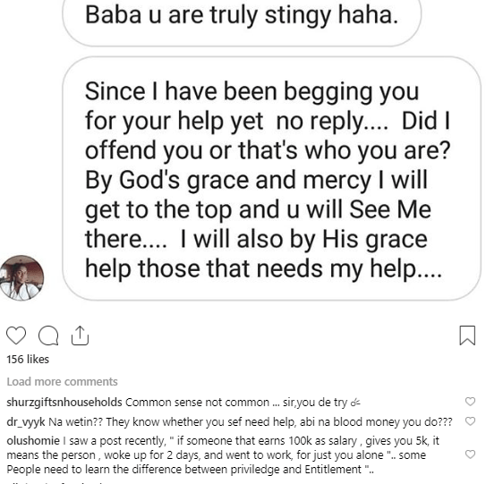 """ali - See What Nigerians Are Saying After A Fan Tagged Ali Baba """"Stingy"""""""