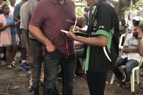 #NigeriaDecides#:Nollywood Actress, Omoni Oboli, Reports Happening Around Her Polling Unit