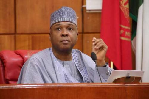 saraki 1 - Saraki debunks claims he called Oloriegbe to congratulate him
