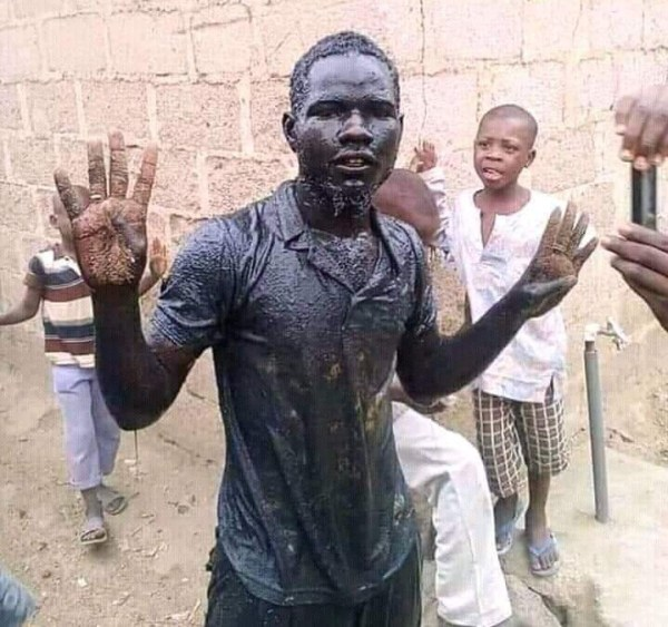 0 IMG 20190306 124406 538 - Man who swam and drank gutter water upon Buhari's victory has died