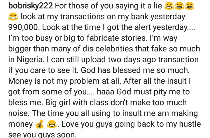 0 IMG 20190308 094913 229 - I'm richer than most of you insulting me on social media – Bobrisky