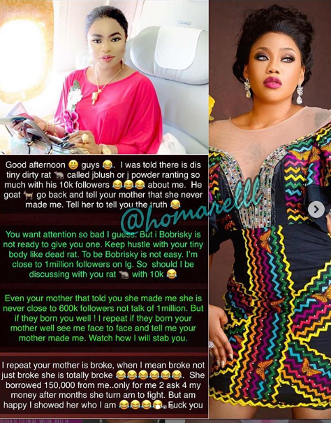 1 15 - #Dragseason! You keep changing the color of your car not the car itself – Bobrisky spils Toyin Lawani's secrets