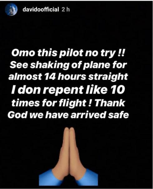 1 51 - I repent like 10 times – Davido shares his experience on a terrifying flight