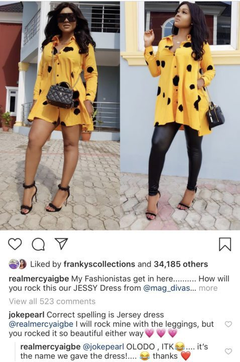 3E36F0A5 EEF2 4D0C 8F1E F2F3817B09B8 - 'You are just an Olodo' – Mercy Aigbe drags fan for correcting her spelling