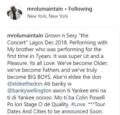 5c7e99cbb246c - Singer Olu Maintain finally responds to ElDee's insult