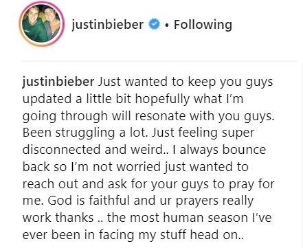 5c84cae26c769 1 - Canadian Singer Justin Beiber Says He's Struggling