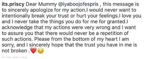 "5c8de6c022a29 - ""I am sorry mummy' – Iyabo Ojo's daughter pen apology letter for visiting a strip club"