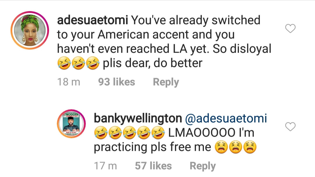 5c9381ee1d76a - This exchange between Adesua Etomi and Banky W is so Adorable