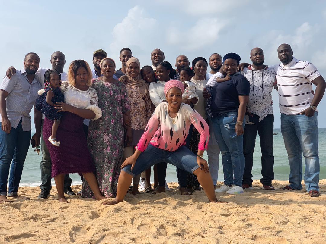 5c9f8e9de44c4 1 - [Photos]: Veteran actor Adebayo Salami and family enjoy some family time at the beach