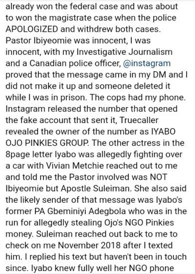 7D743BFB 3EC4 4EAA BF08 996BB3900265 - How Actress Iyabo Ojo Sent Kemi Olunloyo To Prison