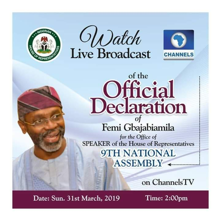 9087973 fbimg1553966109302 jpegbd115cf80cb138a73da0986e98882aff - Nation Assembly: Gbajabiamila set to declare intention for speaker