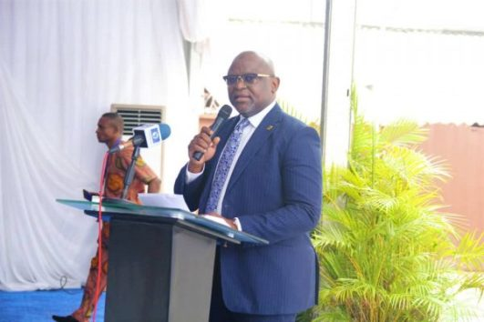 CEO FirstBank delivering his Welcome address at the event 600x400 - FIRSTBANK MARCHES ON, BRINGS THE WORLD TO A STANDSTILL
