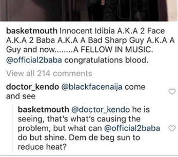 Capture 51 - Savage! Basketmouth attacks Blackface in new post