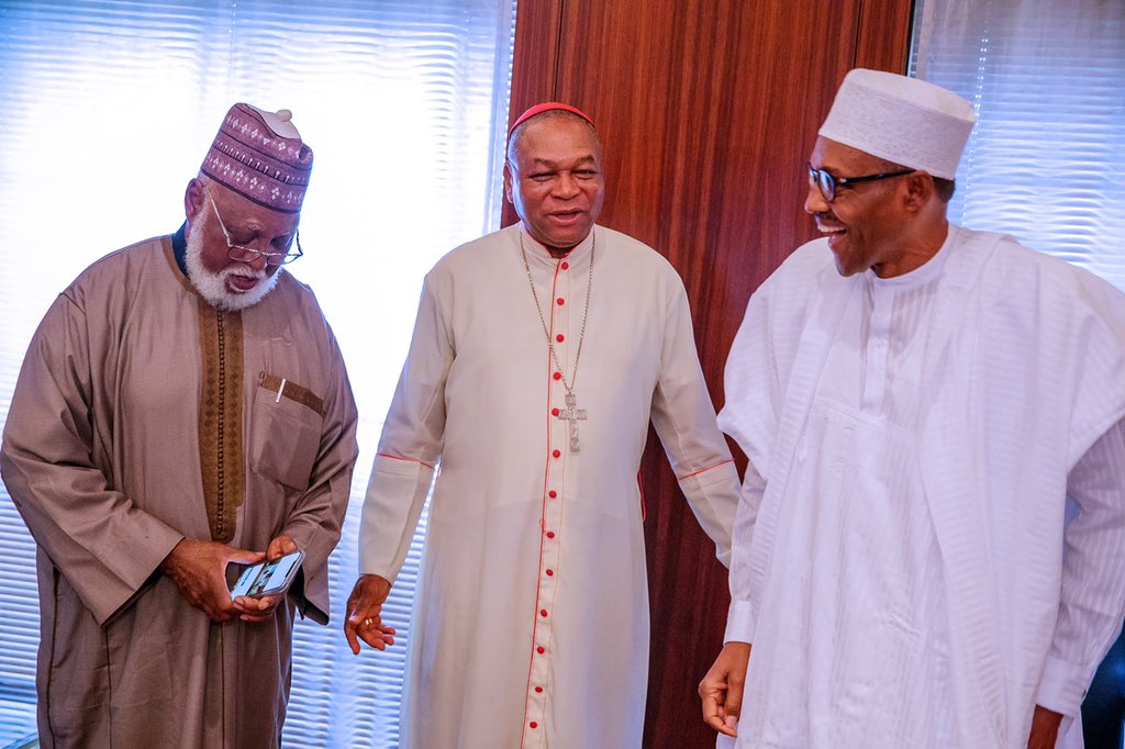 D0lac12X4AIGs e - Buhari Meets With National Peace Committee