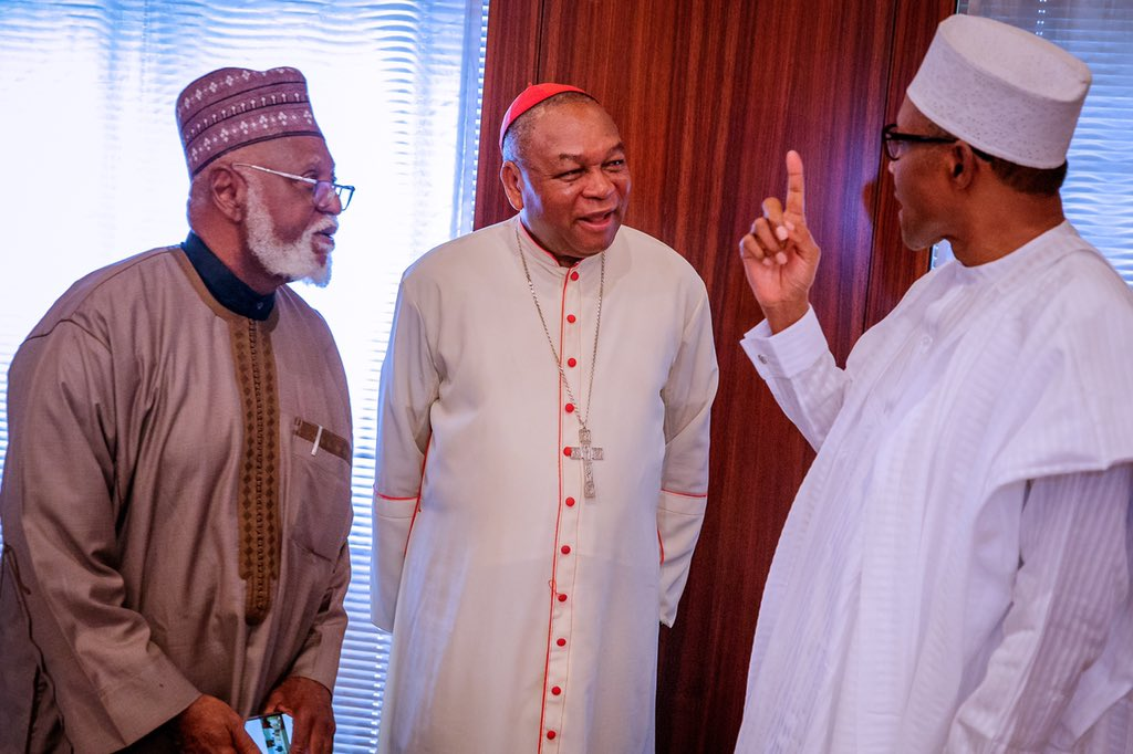 D0lac17W0AAObqw - Buhari Meets With National Peace Committee