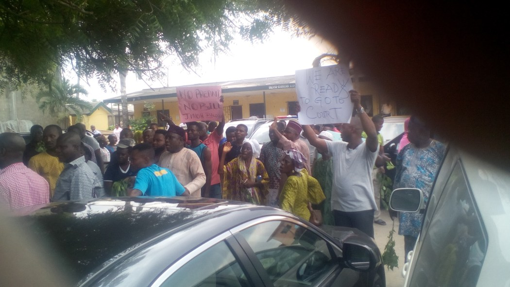 "IMG 20190304 124243 - Protest In Ikosi-Isheri Local Government- ""No Light, No Vote""!"