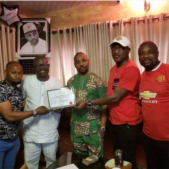 MC Oluomo 1 560x559 - APC lawmaker presents certificate of return to MC Oluomo [See pictures]