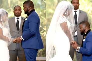 Watch This Emotional Video As Nigerian Groom Delivers Wedding Vows To Bride