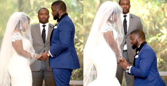 Nigerian groom delivers an emotional wedding vows to his bride Video - Watch This Emotional Video As Nigerian Groom Delivers Wedding Vows To Bride