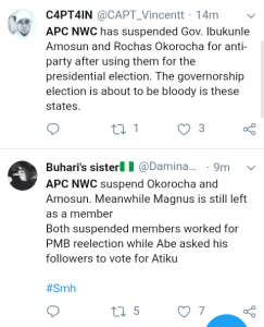 Screenshot 20190301 1606052 - 'Welcome To Next level' – Nigerians React to Suspension Of Amosun and Okorocha