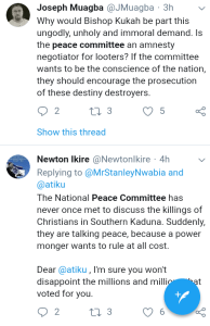 Screenshot 20190301 1744222 - 'Why Won't They Allow Lawyers Shine' – Nigerians React To Peace Committee Meeting With Buhari