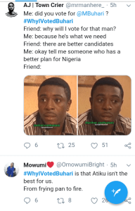 Screenshot 20190306 2004592 2 - Nigerians reveal reasons why they voted for President Buhari [See pictures]