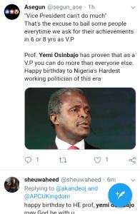 Screenshot 20190308 1208152 - 'Starboy is a year older' – Nigerians celebrate VP Yemi Osinbajo