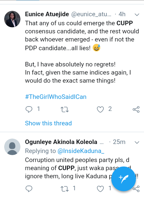 Screenshot 20190312 1044512 - See Nigerians reactions to CUPP's rejection of Kaduna governorship result