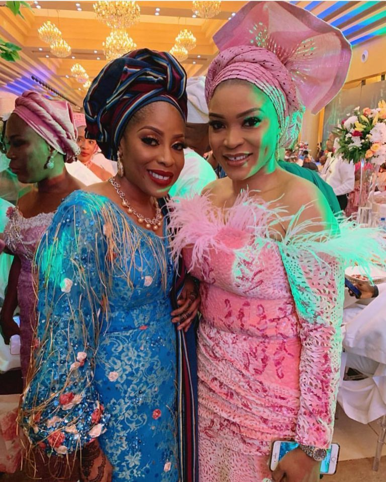 Temidayo Ted Abudu Adebola Makanjuola Traditional Engagement AsoebiBella BellaNaija 17 768x959 - [Beautiful Photos]: Asoebi Guests At Media Mogul, Mo Abudu's Daughter's Wedding