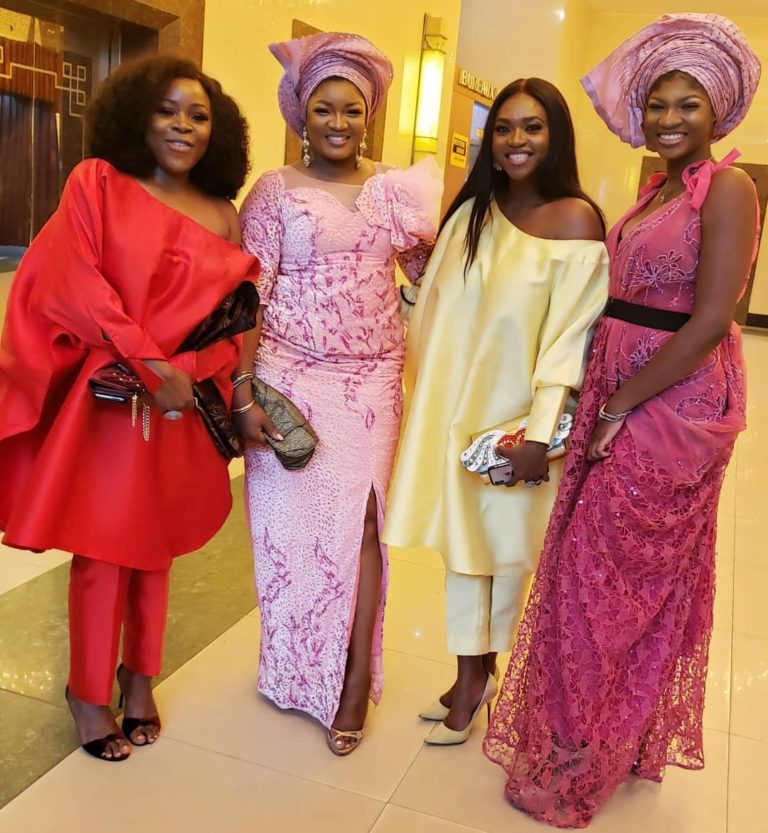 Temidayo Ted Abudu Adebola Makanjuola Traditional Engagement AsoebiBella BellaNaija 18 768x833 - [Beautiful Photos]: Asoebi Guests At Media Mogul, Mo Abudu's Daughter's Wedding