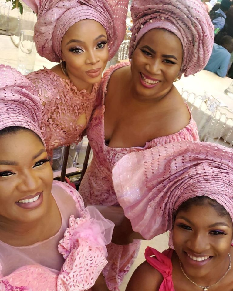 Temidayo Ted Abudu Adebola Makanjuola Traditional Engagement AsoebiBella BellaNaija 8 768x960 - [Beautiful Photos]: Asoebi Guests At Media Mogul, Mo Abudu's Daughter's Wedding