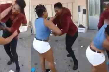 [VIDEO]: Two Nigerian Women Fight Dirty In Italy